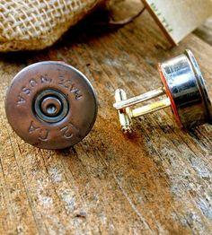 Shotgun Shell Cufflinks by Megan Cash on Scoutmob Shoppe (partner)