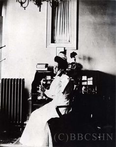 Unidentified nurse making a phone call. Image courtesy of @Bates History Center - Penn Nursing.