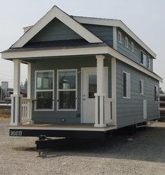 Big Tiny Home on Wheels | Tiny House Pins -- good short article on Park Models vs Tiny Houses