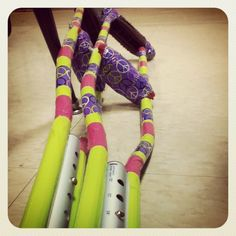 Decorated crutches with duct tape! Love it!