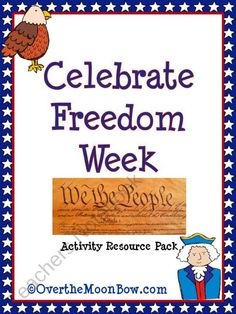 Celebrate Freedom Week Activity Resource Pack from overthemoonbow on TeachersNotebook.com (16 pages)  - This free theme pack contains resources for Freedom Week, including writing, discussion, poetry  vocabulary!