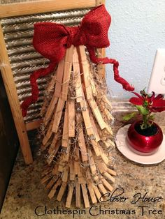 Clover House: Clothespin Christmas Tree