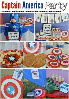 DIY Captain America Party/Playdate on a Budget!!