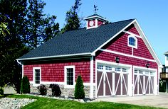 Red Barn with vinyl shakes