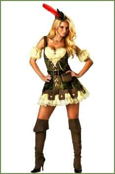 Women's sexy Robin Hood Costume for hot weather