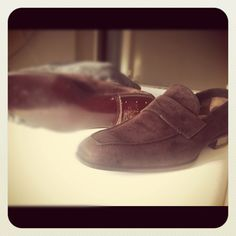 My new penny loafers from Settentatre in Florence.