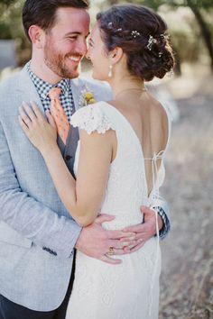 whitney + jonathan   Aberdeen Gown from BHLDN   via: junebug weddings   #BHLDNbride