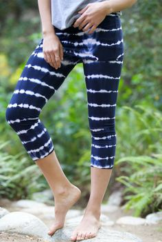 LVR Organic Foldover Striped Capris » Love these!!