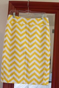 steps to a DIY taylored pencil skirt! ps...have to gget more chevron print