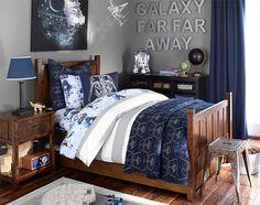 Galaxy far far away star wars room for Galaxy bedroom ideas