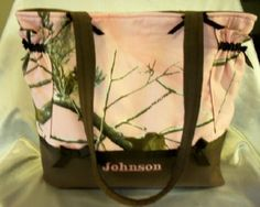 Designs by Keri Boutique Pink Real Tree Camo  Duffle diaper bag or tote bag