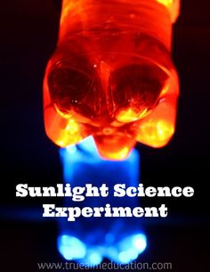 Light Refraction Science Experiment for Kids - Makes a cool light show!