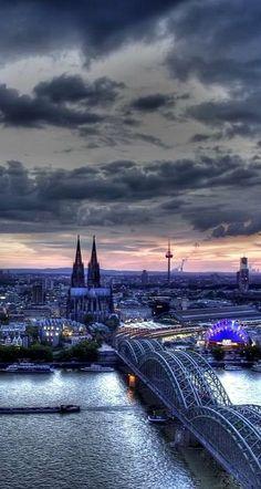 Hohenzollern Bridge, Cologne, Germany!
