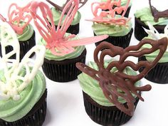 3D butterflies out of chocolate or royal icing
