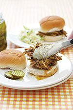 South Carolina pulled pork barbecue with mustard-based BBQ sauce -  #South #Southern #South_Carolina #food #recipe #pork #barbecue