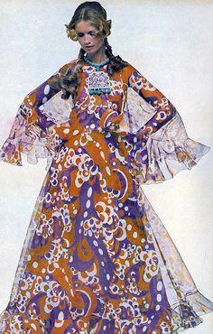 1960s vogue maxi dress #60s #retro #vintage