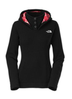 Cute north face hoodie with plaid lining!