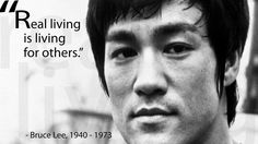 Real living is living for others. -Bruce Lee #calstrength #throwback #motivation