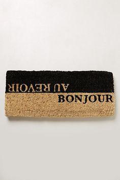 Stenciled Coir Doormat - so cute #anthrofave