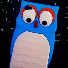 Blue owl iPhone 4 4s case