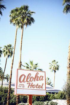 palm springs, dream job, aloha hotel, beach