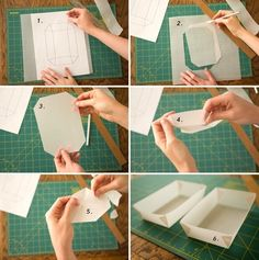 Make a box out of paper.