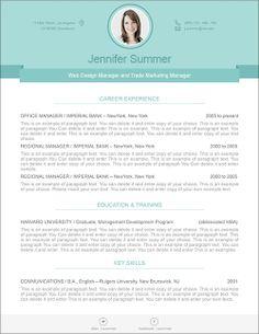 25 modern - Contemporary Resume Templates