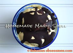 Delicious Obsessions: Homemade Magic Shell Ice Cream Topping Recipe With Coconut Oil   www.deliciousobsessions.com magic shell, coconut oil, shell ice