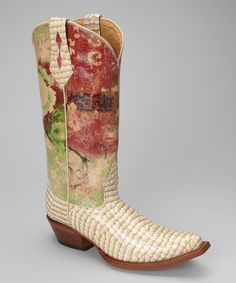 Take a look at this Cream 628-06 T-Toe Patent Western Boot by Johnny Ringo Boots on #zulily today!