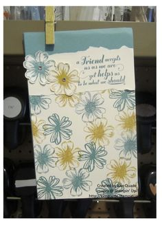 """Altered note pad holder using the Stampin' Up! """"Feel Goods"""" stamp set. #stampinup #crafting"""