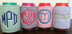 Seersucker Wrap Around Koozies  $10  FREE Shipping! Perfect sratty accessory! <3