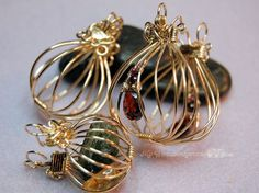 wire wrapping tutorials | Wire Wrap Pendants Tutorial - 2 Hinged Cages and a Locket - Instant ...
