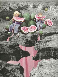 """""""Watermelon Watermarks"""" by Eugenia Loli."""