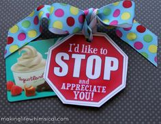 STOP & APPRECIATE {anyone in your life}! This is a great Back to School Tag! #printable #backtoschool #school #gift
