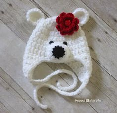 Repeat Crafter Me: Crochet Polar Bear Hat Pattern