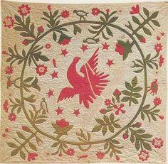 1850 eagle crib quilt