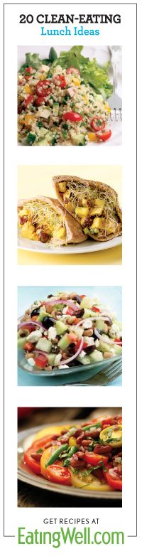 Get 20 delicious lunch recipes #eatcleanpinparty