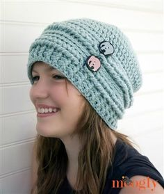 Ups and Downs Slouchy Beanie - Media - Crochet Me