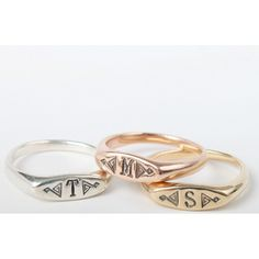 Bittersweets Signet Rings, available at www.catbirdnyc.com.