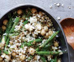 Chickpea, Barley, and Feta Salad recipe