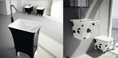 cow print basin