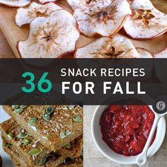 36 Snack Recipes for Fall #fall #recipes #snacks