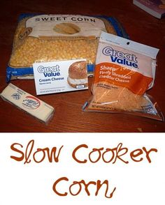 Easy Slow Cooker Corn Recipe. A hit at potlucks. There are never leftovers!
