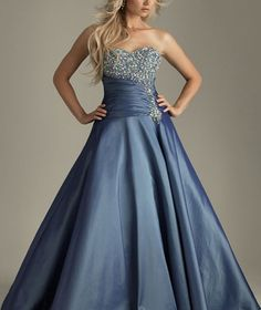 Bright Blue Satin Sweetheart Neckline Beads Working Paillette Ruffle Floor Length Prom Dress