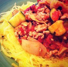 NO carbs! Recipe for Spaghetti Squash instead of pasta!