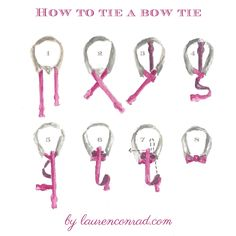 How To Tie A Bow Tie on LaurenConrad.com