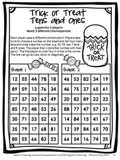 A No PREP Halloween Math Game from Halloween Math Games First Grade by Games 4 Learning. $