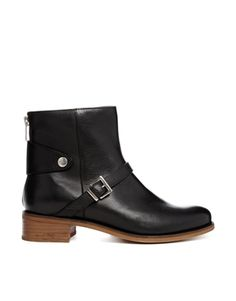 Image 1 ofASOS AUTOBOOT Leather Ankle Boots