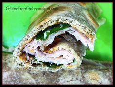 Gluten Free Sandwich Wrap -- whole grain mock lavash bread