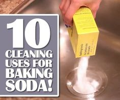 Top 10 Cleaning Uses for Baking Soda ~:: Clean My Space ::~ It would blow your mind just how many things you can clean using simple baking soda. Yup, that little box of white powder that sits in your fridge can do a lot more than sit, in the fridge. Baking soda is a type of salt that is made by